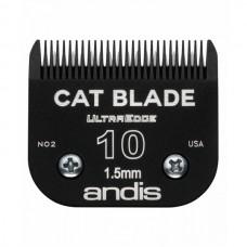 Нож Andis UltraEdge CAT #10 - 1,5мм Сталь для Кошки, Новый Черный Дизайн.